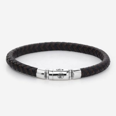 Absolutely Leather – Half Round Braided Black Earth